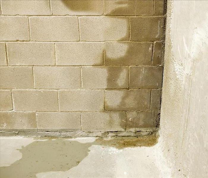 Image of a wall and half of it is full of moisture
